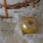 Autumnal spiced apple cake, gold-kissed apples