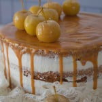 Autumnal spiced apple cake, caramel