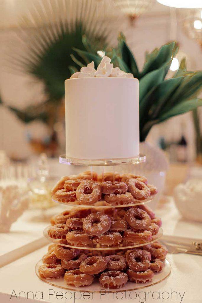 West Coast beach wedding, coconut sponge cake with passionfruit curd