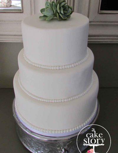 Gelukkie, Paternoster wedding, elegant white 3 tier cake
