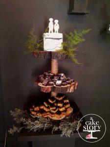 Gelukkie, Paternoster wedding, brownies and blondies cake