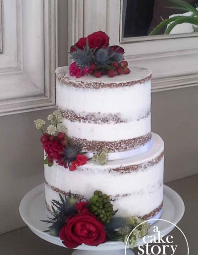 Gelukkie, Paternoster wedding, carrot semi naked cake