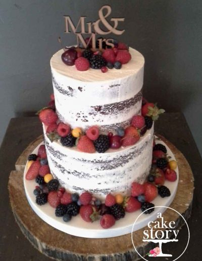 Gelukkie, Paternoster wedding, semi naked cake with fresh fruit