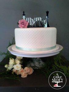 Gelukkie, Paternoster wedding, mint green Swiss dot cake