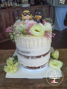 Abalone Guesthouse, Paternoster wedding, semi naked cake