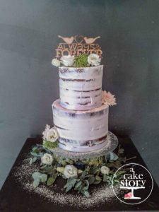 Gelukkie, Paternoster wedding, semi naked cake