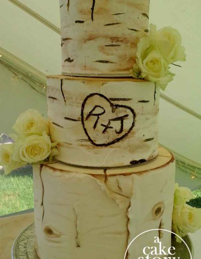 Blue Bay Lodge, Saldanha Bay wedding, birch tree cake