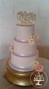 Sea Trader, St. Helena Bay wedding, soft pink fondant cake