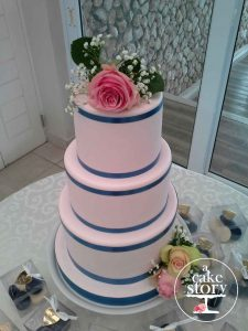 Blue Bay Lodge, Saldanha Bay wedding, blue and pink fondant cake