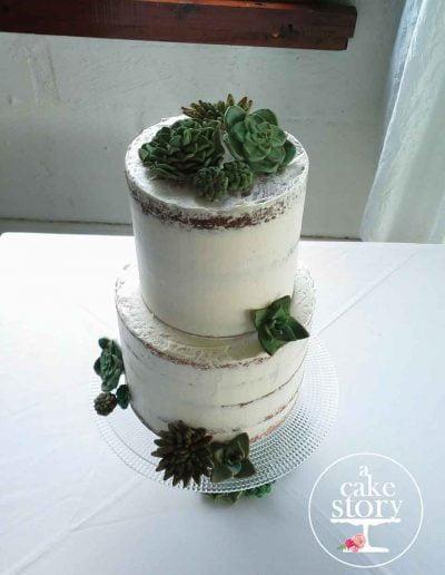 Boesmanland Plaaskombuis, Langebaan wedding, semi-naked cake