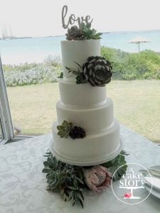 Blue Bay Lodge, Saldanha Bay wedding, white fondant secret surprise wedding cake