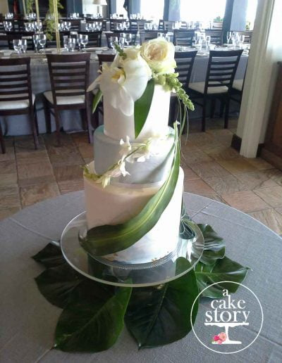 Blue Bay Lodge, Saldanha Bay wedding, tropical beach wedding cake