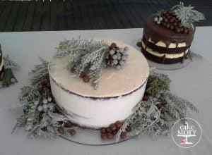 Strandkombuis, Yzerfontein wedding, chocolate and brownie cakes