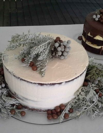 Strandkombuis, Yzerfontein wedding, chocolate and brownie cakes
