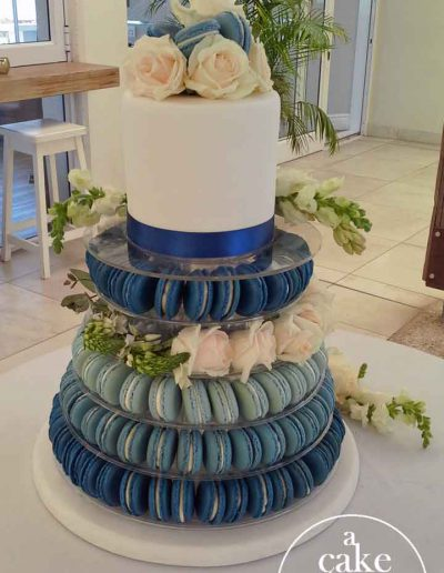 Blue Bay Lodge Beach Wedding, Saldanha Bay wedding, gluten free cake with macarons
