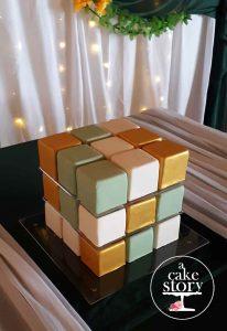 Sea Trader, St. Helena Bay wedding, rubik's cube cake