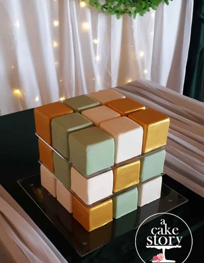 Sea Trader, St. Helena Bay wedding, rubik's cube cake