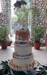 Blue Bay Lodge, Saldanha Bay wedding, salted caramel vanilla cake