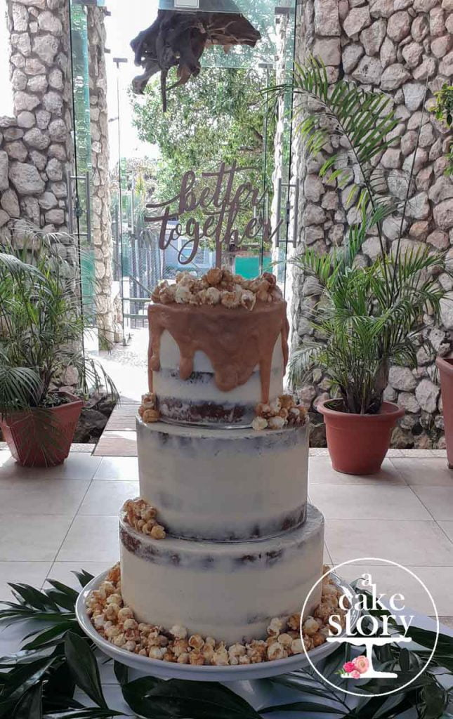 Blue Bay Lodge, Saldanha Bay wedding, salted caramel vanilla cake