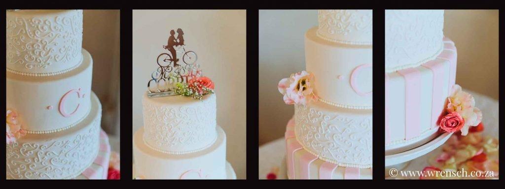 Sea Trader, St. Helena Bay, beach wedding, pink and white wedding cake