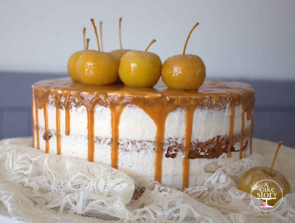 Salted caramel apple spice cake