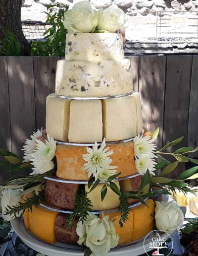 Strandkombuis, Yzerfontein - cheese cake wedding cake
