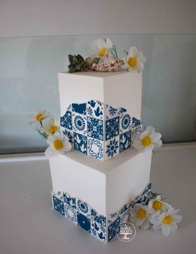 Mediterranean inspired wedding cake St Helena Bay